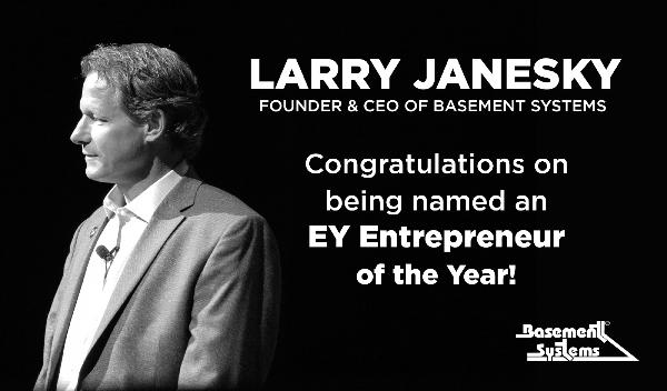 Basement Systems CEO Named Ernst & Young 2015 Entrepreneur of the Year
