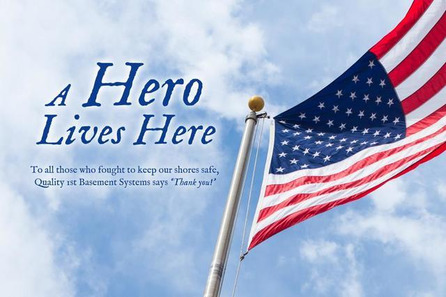 Quality 1st Basement Systems Announces A Hero Lives Here Program for Vets - Image 1