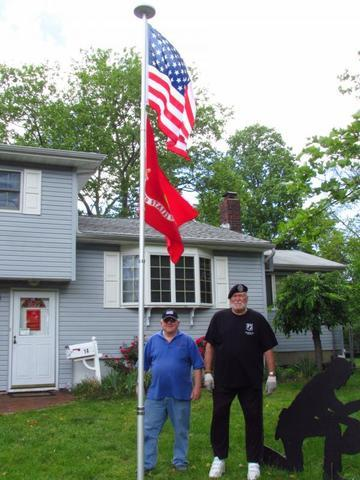 Bob with Fred, our Middletown Veteran