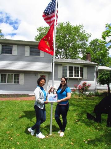 Keashan and Mallory with the First Flag!