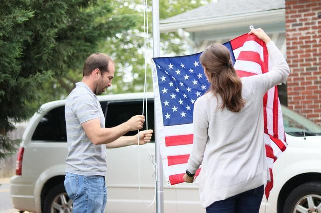 In Honor of flag day on Wednesday, Quality 1st Basement Systems was out today raising more American Flags for our...