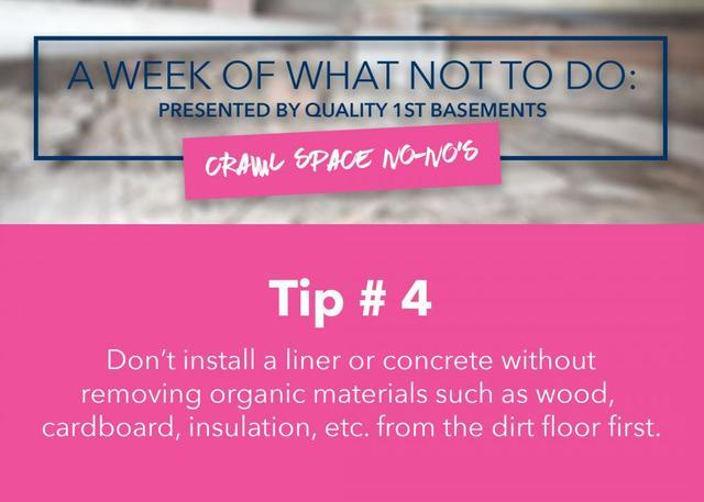 Remove all organic material first!
