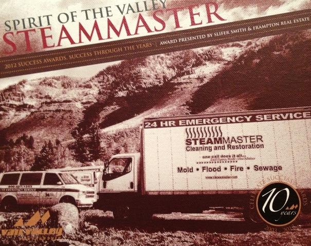 SteamMaster Restoration and Cleaning wins the Spirit of the Valley Award in Beaver Creek Colorado - Image 2