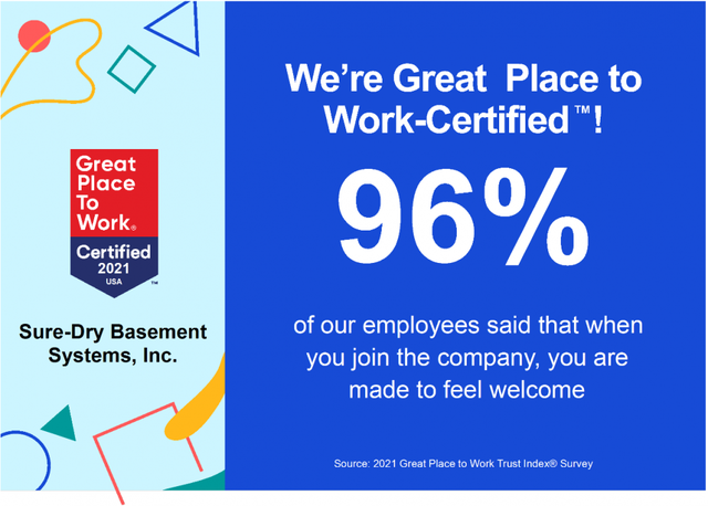 Sure-Dry is Great Place to Work-Certified™ - Image 2