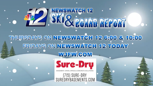 Tune into Newswatch 12 for the Sure-Dry Ski & Snow Report!