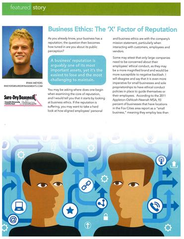 Employee gets article featured in Fox Cities Chamber of Commerce Business Magazine - Image 1