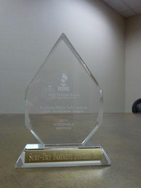 Sure-Dry Basement Systems Honorable Mention for Torch Award
