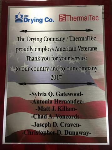 Plaque Honoring Our Veteran Employees