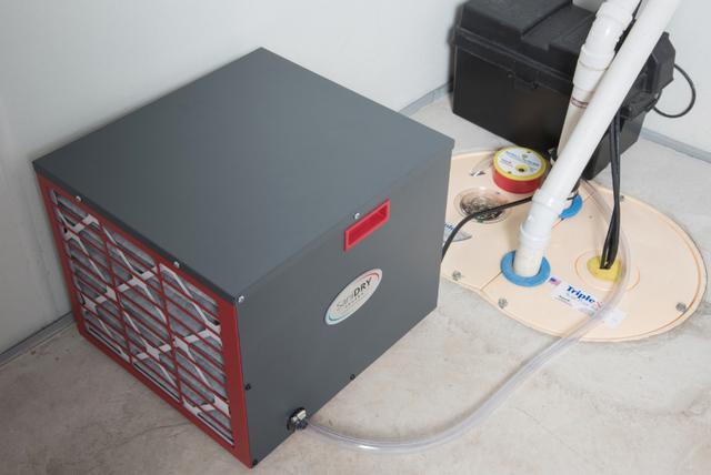 Sanidry Triplesafe sump pump system installed