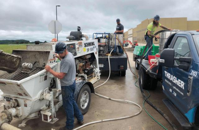 Low Density Cellular Concrete Install 1