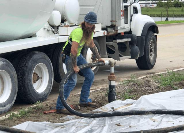 Low Density Cellular Concrete Install 2
