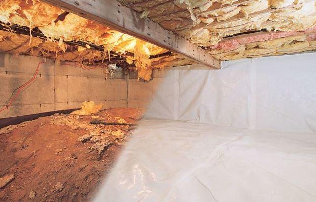 Crawl space with CleanSpace installed