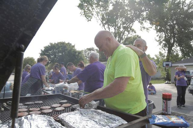 Grilling for Volunteers in Council Bluffs