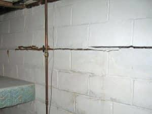 bowing and cracked foundation wall