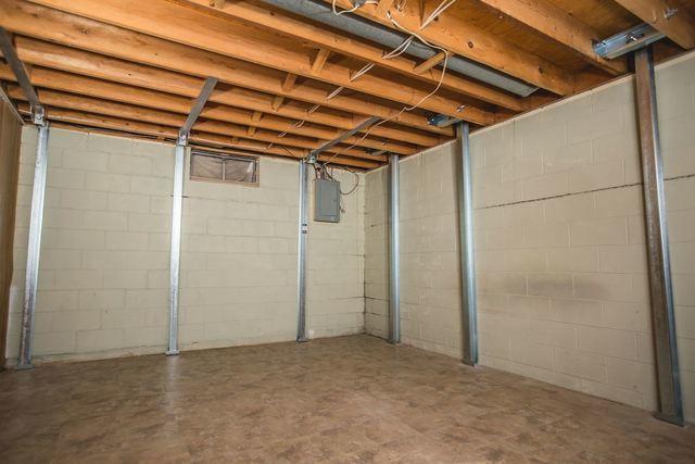PowerBrace wall system installed in basement