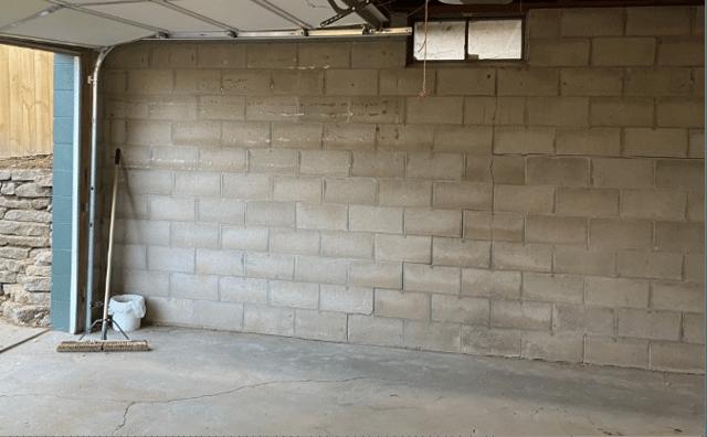 Stairstep crack in block wall