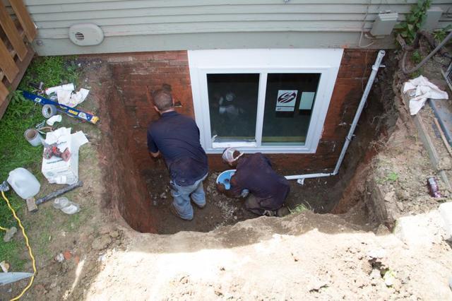 egress window during installation