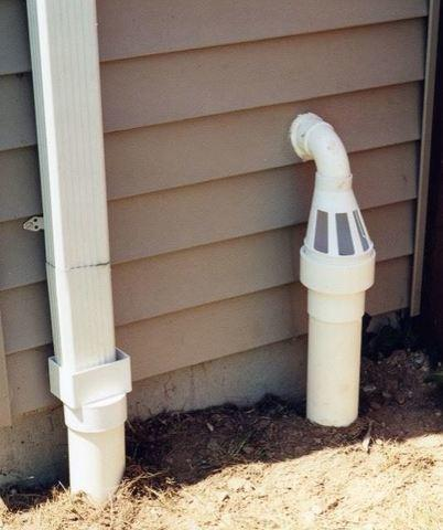 Ice Guard Patented System exterior water escape