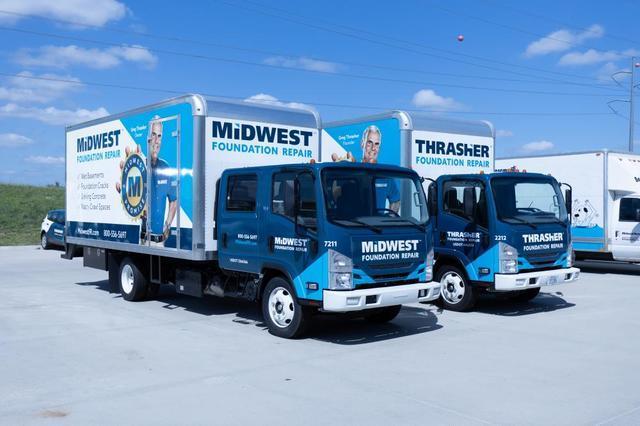 Thrasher Foundation Repair and Midwest Foundation Repair Trucks