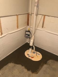 New sump pump install