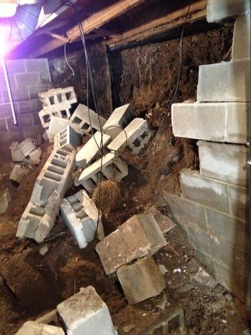 Bowing Block Wall Collapses in Greenville, IL