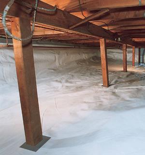 Transform A Moldy Crawl Space Environment With a Vapor Barrier