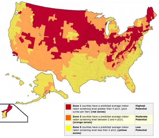 Radon Statistics by the State