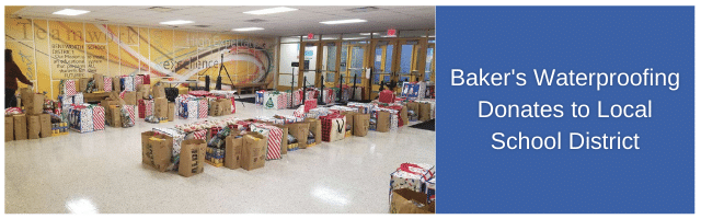 Baker's Waterproofing Donates to Local School District