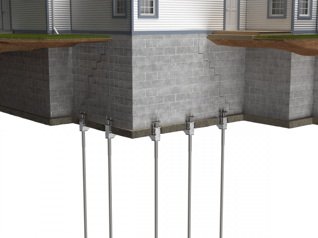 Foundation Repair with Push Piers - Image 2