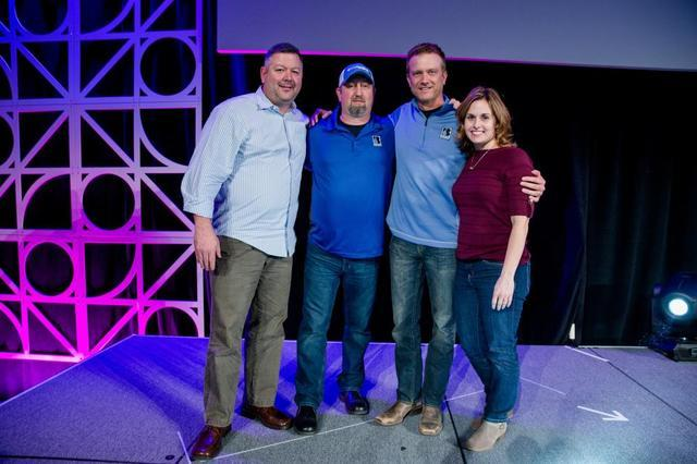 Mark Luba, Gary Whipkey, Brian Baker, Cara Baker attend the Supportworks 2018 Redefine Conference