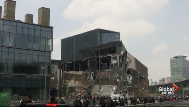 Shopping Mall Collapses Possibly from Unstable Soils