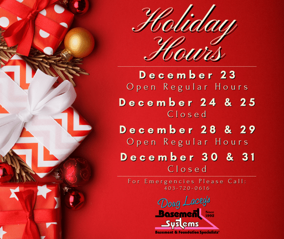 Holiday Hours - 2020