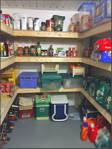 Finished cold room with stock