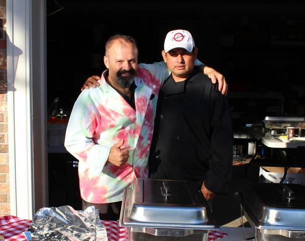 Our amazing caterers, Enzo & Miguel