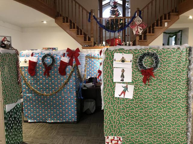 Our office had a Christmas decorating contest....