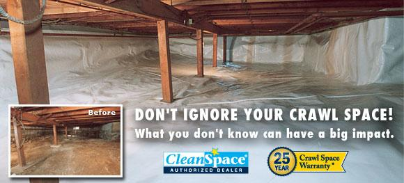 Leaky or Damp Crawlspace in Utah County