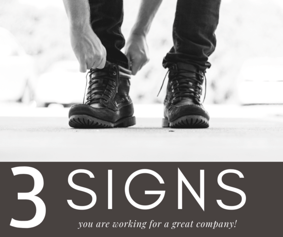 3 Signs You are Working for a Great Company