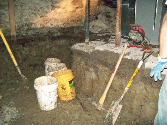 Two foot trench