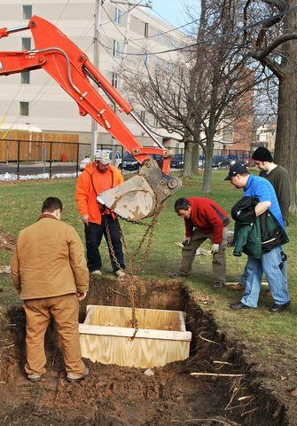 Frank DiMaria helps install new Seismograph at Canisius College - Image 5