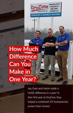 Joe, Evan and Aaron made a HUGE difference in a year! In their first year at DryZone, they helped a...