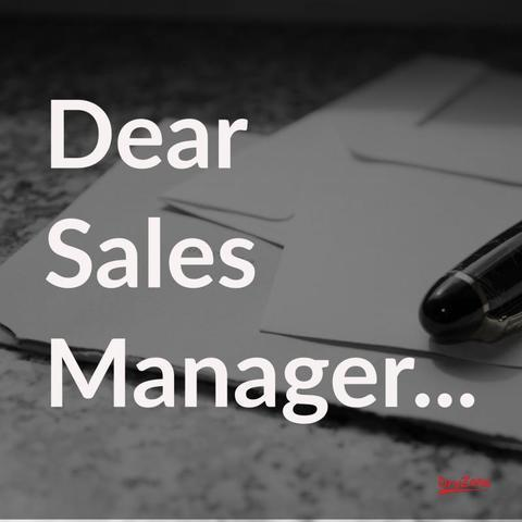 An open letter written to our future sales manager