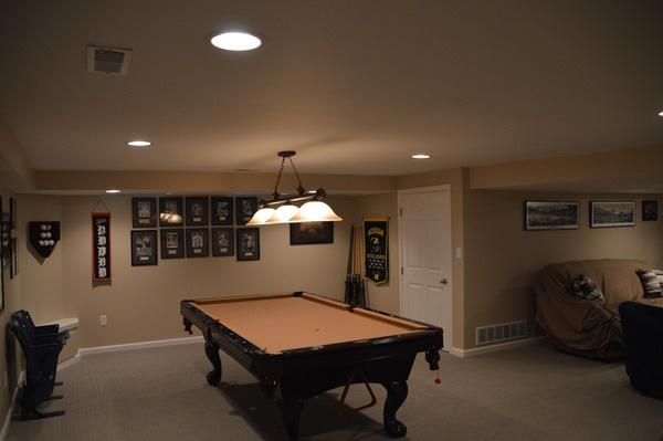 Enjoy playing games with friends in your man cave!