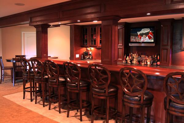 Sit around the bar with friends in your man cave to watch your favorite team!