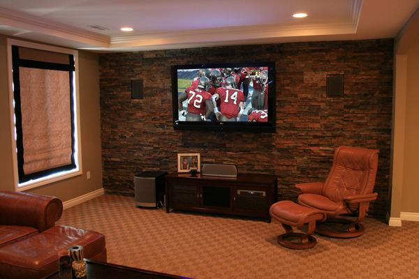 The best way to watch your favorite team is in your dream man cave!