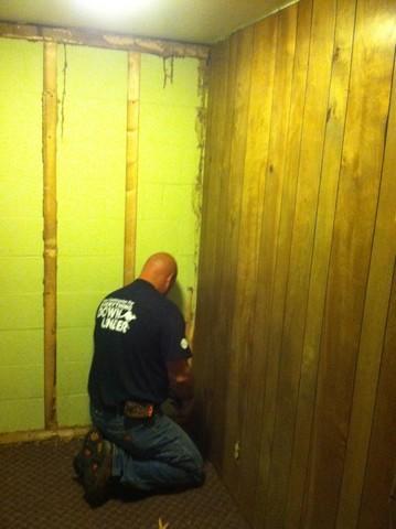 Waterproofing system installation in Evansville
