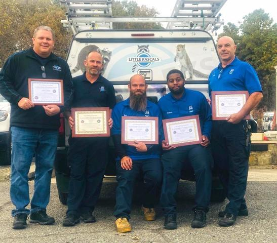 Cowleys Wildlife Division Receives NWCOA Wildlife Control Operator Certific...