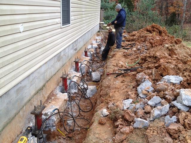 Foundation Piering Systems installed in East Tennessee