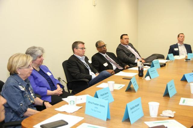 Josh Smith attends first meeting as member of Knoxville's Business Advisory Council...