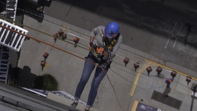 Master Services tossed our bosses over the edge of Downtown Knoxville's twelve-story Langley Building to support efforts of The Restoration House!...