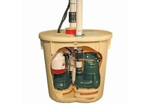 Three pumps are better than one! The TripleSafe Sump Pump has three pumps, a battery backup, and an alarm system...